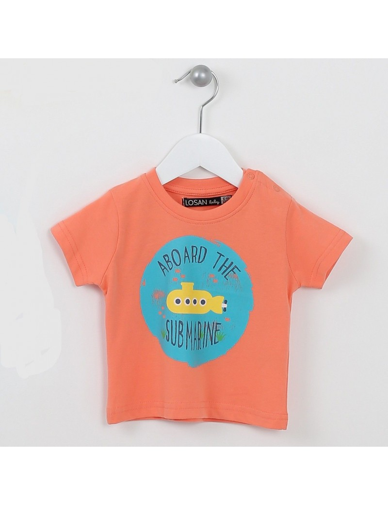 CAMISETA BEBE 6-24M LOSAN Baby - DECARAMELO 3349fdfb5d2